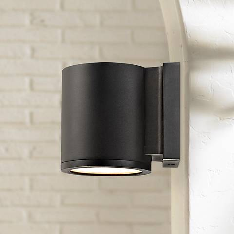 "WAC Tube 6"" High Black LED Outdoor Wall Light"