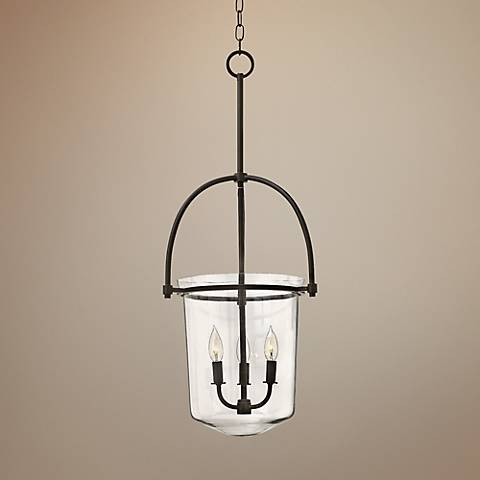"Hinkley Clancy 15 1/2"" Wide Buckeye Bronze Entry Pendant"