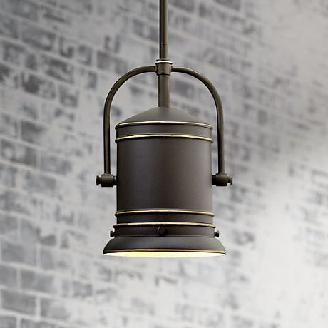 "Hinkley Pullman 7 1/4"" Wide Oil-Rubbed Bronze Mini Pendant"