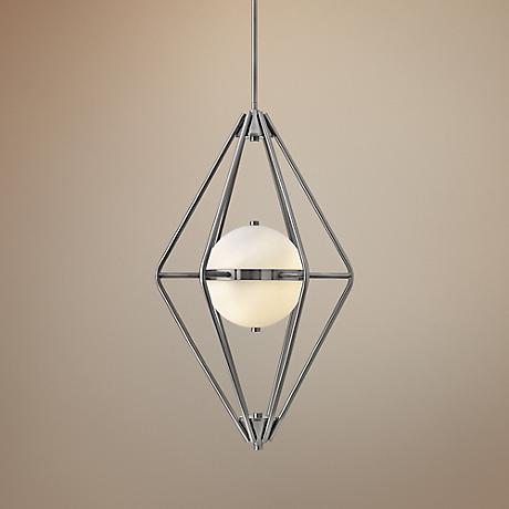 "Hinkley Spectra 18"" Wide Pewter Chandelier"