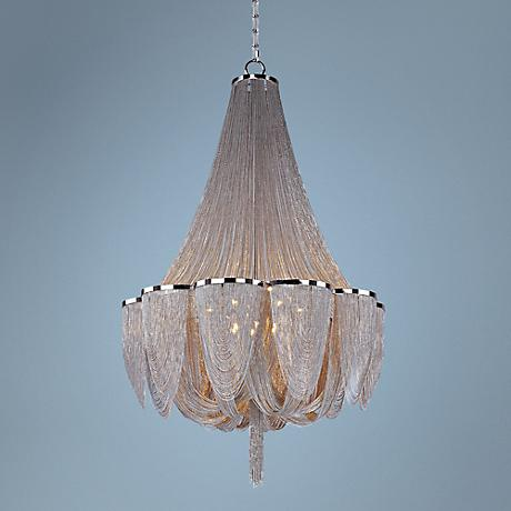 "Maxim Chantilly 42"" Wide Polished Nickel Chandelier"