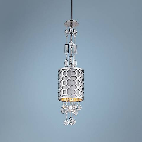 "Maxim Symmetry 7"" Wide Polished Nickel Mini Pendant"