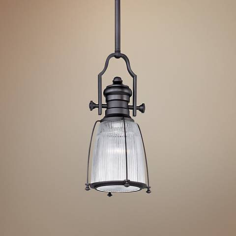 "Maxim Hi-Bay 9"" Wide Bronze Mini Pendant"