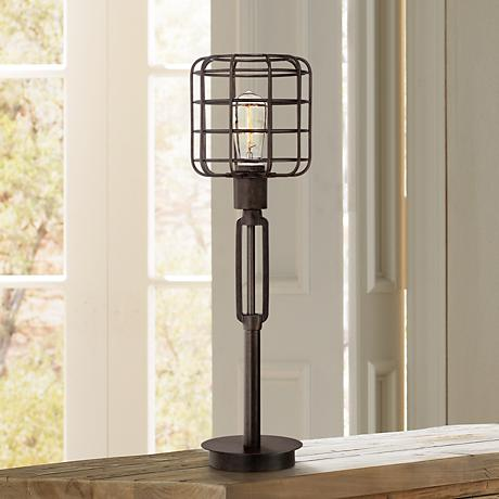 Franklin Iron Works™ Industrial Cage Accent Lamp