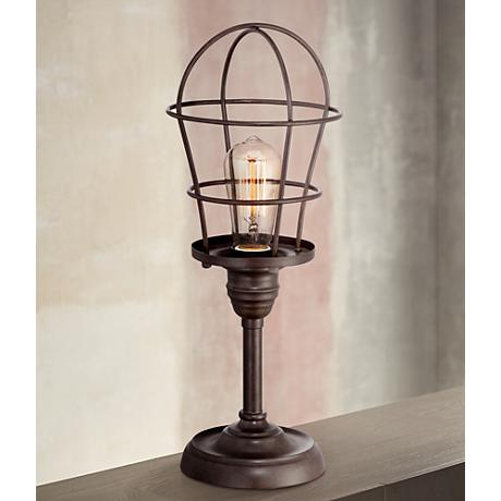 Franklin Iron Works™ Industrial Wire Cage Accent Lamp