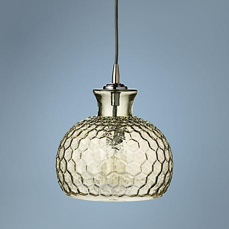 "Clark Collection 10"" Wide Taupe Jamie Young Glass Pendant"