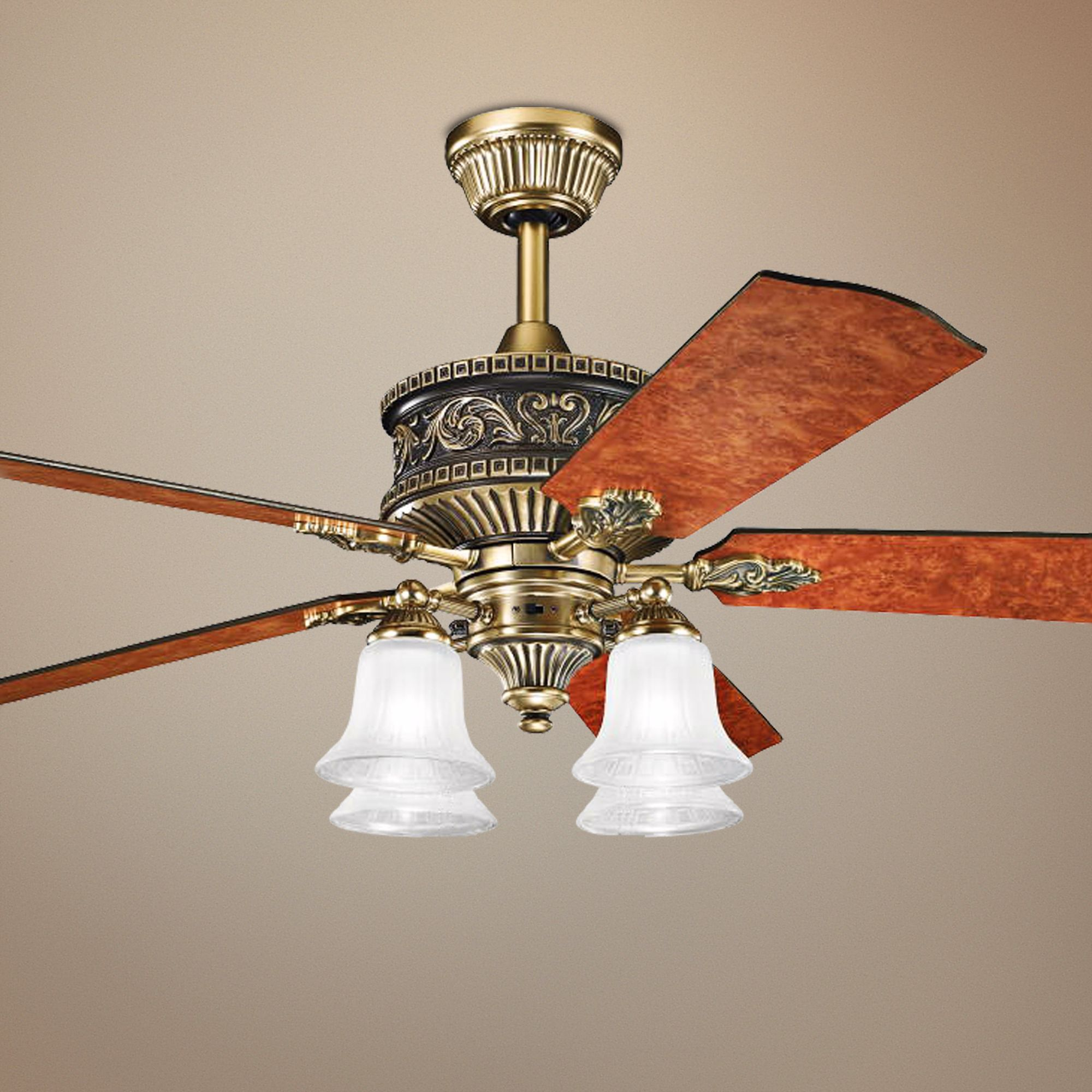 Vintage Ceiling Fans With Lights : Antique brass ceiling fan light kit roselawnlutheran