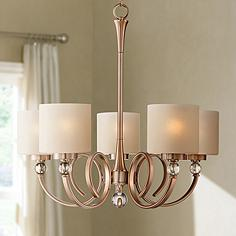 Ovanda 26 Wide Antique Brass Chandelier