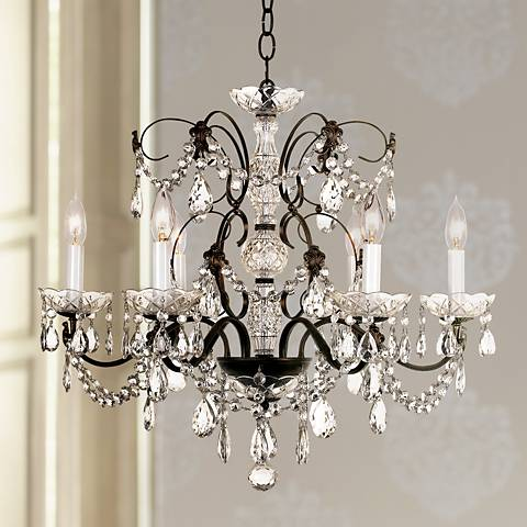 "Schonbek Madison 24""W 6-Light Crystal Chandelier"