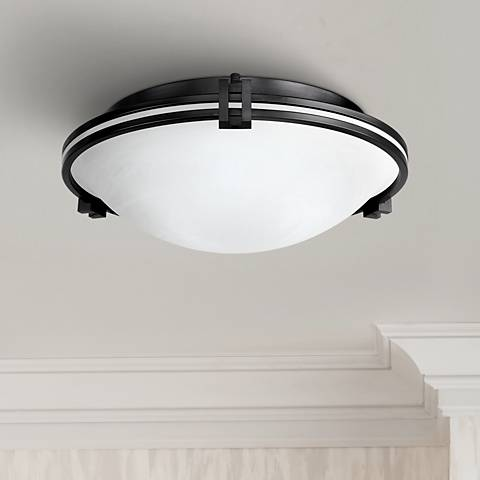 "Possini Euro Design Bronze 16 3/4"" Wide Ceiling Fixture"