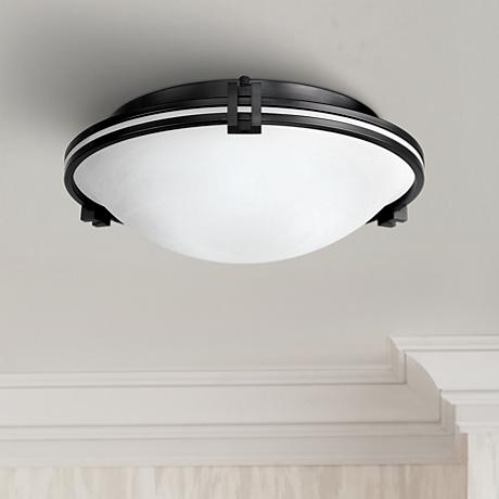 Possini Euro Design Bronze 16 3 4 Quot Wide Ceiling Fixture