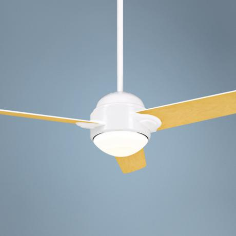 "54"" Casablanca Trident Snow White Ceiling Fan"