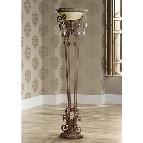 Seville Collection Iron Torchiere Floor Lamp