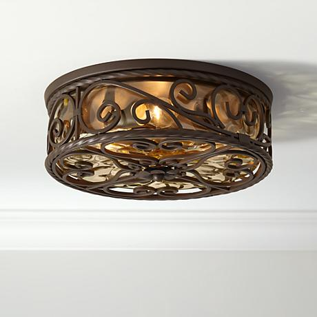 Casa seville 15 wide indoor outdoor ceiling light fixture 51044 lamps plus for Exterior ceiling light fixture