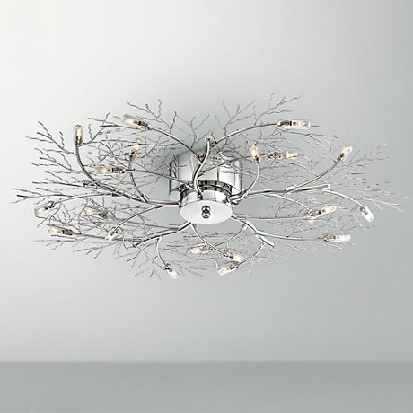 possini euro branch 30 1 2 wide ceiling light fixture 51693 www. Black Bedroom Furniture Sets. Home Design Ideas