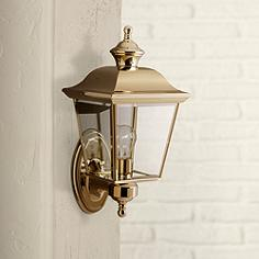 Kichler Polished Brass 15 1 2 High Outdoor Wall Light