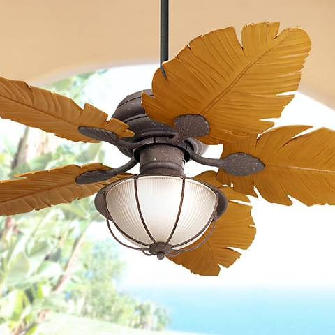 "52"" Casa Vieja® Tropical Leaf Ceiling Fan"