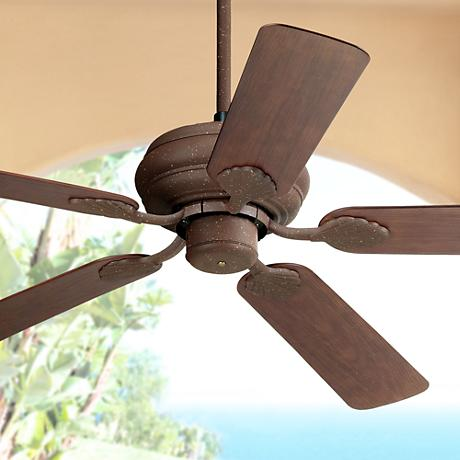 "52"" Casa Vieja Tropical Rust Finish Ceiling Fan"