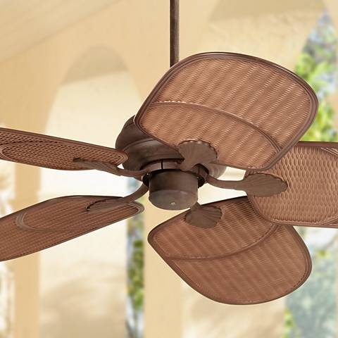 "52"" Casa Vieja® Rattan Outdoor Ceiling Fan"