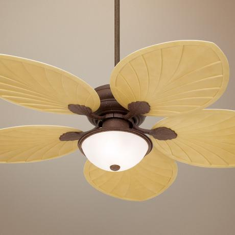 "54""  Casa Vieja® Outdoor Palm Leaf Ceiling Fan"