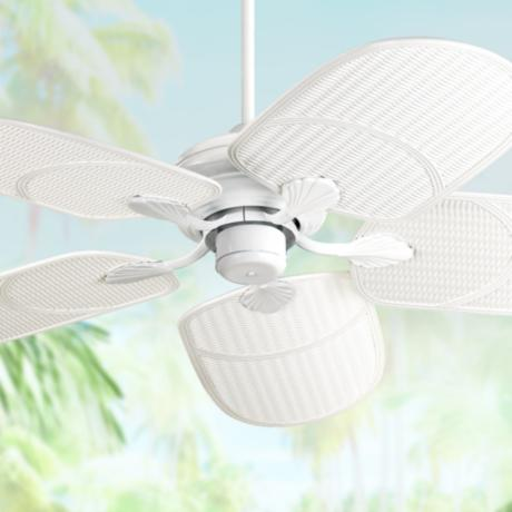 Outdoor Tropical White Ceiling Fan