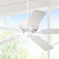 "52"" Casa Vieja® White Outdoor Ceiling Fan"