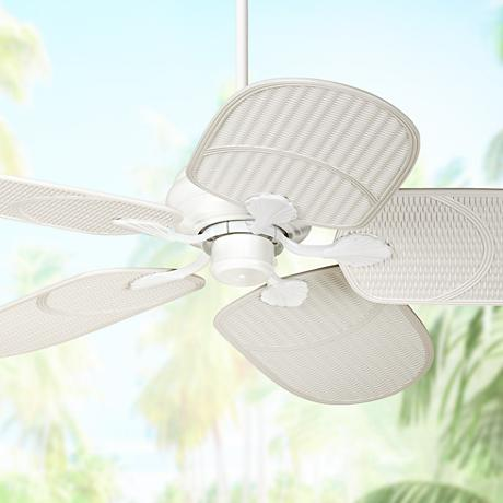 "52"" Casa Vieja® Tropical White Outdoor Ceiling Fan"