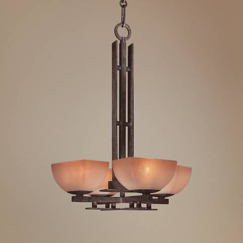 "Lineage Collection 17"" Wide 4-Light Mini Chandelier"