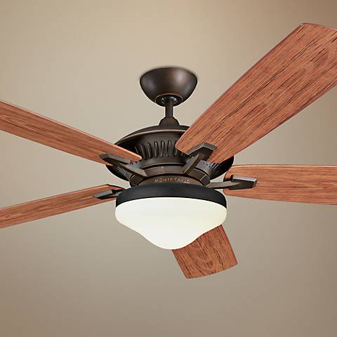 "60"" Monte Carlo Cyclone Roman Bronze Indoor Out Ceiling Fan"