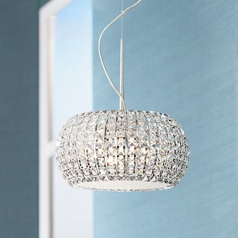 "Possini Euro Contour Crystal 15 3/4"" Wide Pendant Light"