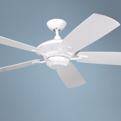 "60"" Cyclone White Indoor Outdoor Energy Star Ceiling Fan"