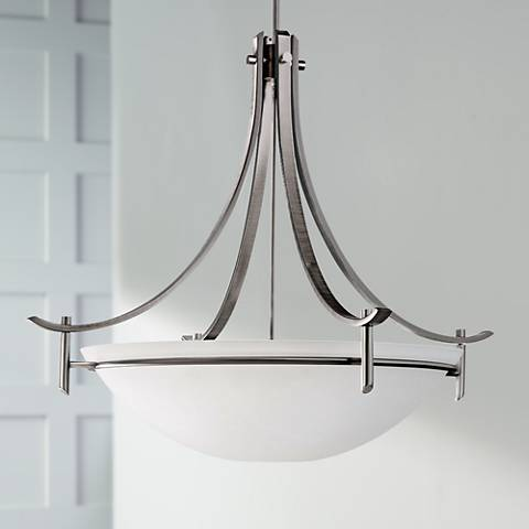"Olympia Collection Pewter 36"" Wide Pendant Light"