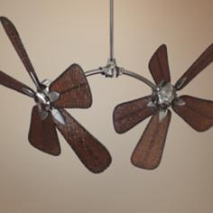 "52"" Fanimation The Caruso Pewter and Bamboo Ceiling Fan"