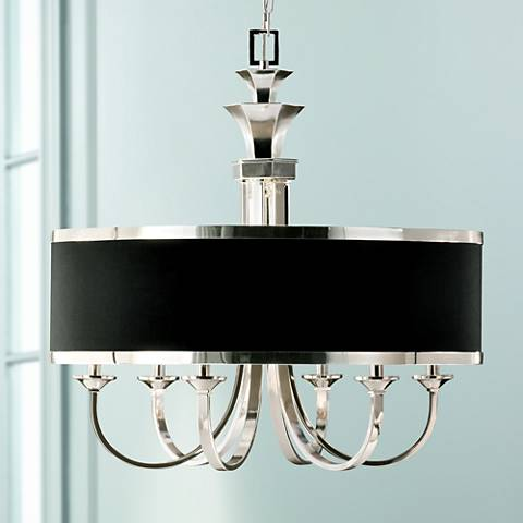 "Uttermost Tuxedo Collection 28"" Wide Drum Shade Chandelier"