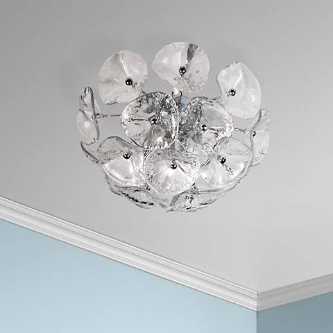 Fiori Collection Clear Glass Flushmount Ceiling Fixture