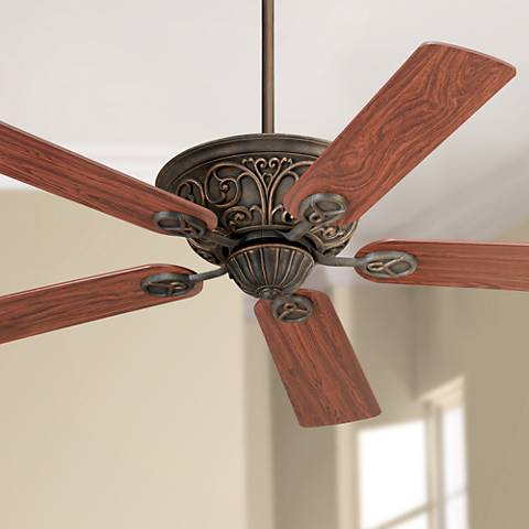"52"" Casa Contessa Copper  Bronze Cherry Blade Ceiling Fan"
