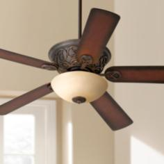 "52"" Casa Contessa™  Bronze and Scavo Glass Ceiling Fan"