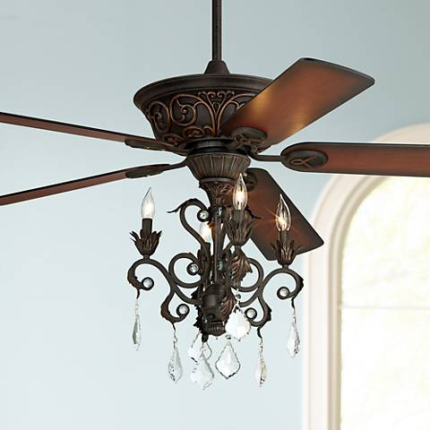 Casa Contessa™ Dark Bronze Chandelier Ceiling Fan