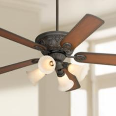 "52"" Casa Contessa™ Bronze Ceiling Fan with Light Kit"