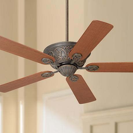 "52"" Casa Contessa Copper Bronze Teak Blades Ceiling Fan"