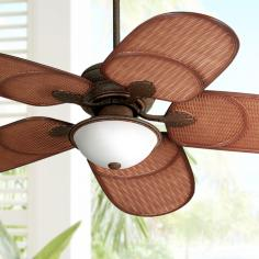"52"" Casa Vieja® Rattan Outdoor Tropical Ceiling Fan"