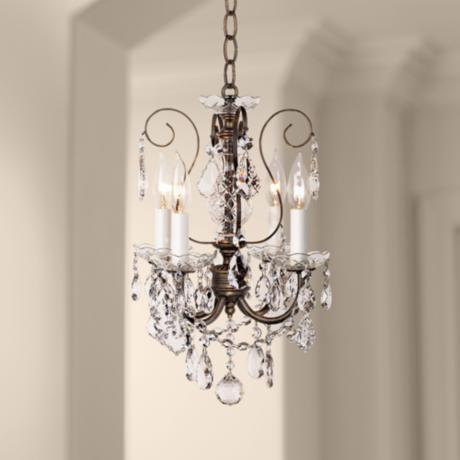 "Schonbek New Orleans Collection 12"" Crystal Mini Chandelier"