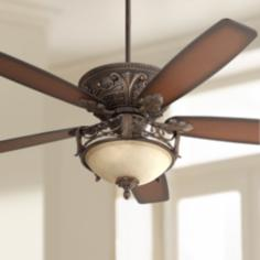 "60"" Casa Montego™ Scavo Glass Light Ceiling Fan"