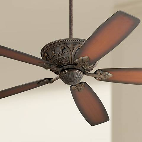 "60"" Casa Montego™ Bronze Shaded Teak Ceiling Fan"