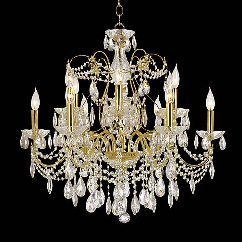 James R. Moder Belle Wave Twelve Light Chandelier