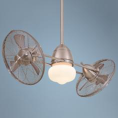 Minka Aire Gyro Brushed Nickel Wet Locations Ceiling Fan