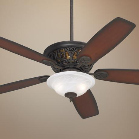 "56"" Casa Brisbane™ Alabaster Glass Ceiling Fan"
