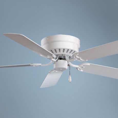 "52"" Minka Aire Mesa White Ceiling Fan"