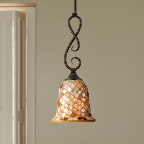 "Monterey Mosaic Malaga Finish 6"" Wide Pendant Light"