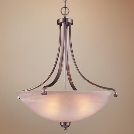 "Paradox Brushed Nickel ENERGY STAR® 28"" H Pendant Light"